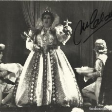 Autógrafos de Música : MONTSERRAT CABALLÉ. FOTOGRAFÍA CON AUTÓGRAFO, FIRMA. 1975. ELISABETTA D'INGHILTERRA. ARLES.. Lote 158736746