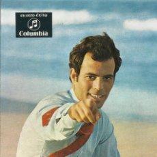 Autógrafos de Música : JULIO IGLESIAS. COLUMBIA. AUTÓGRAFO, FIRMA Y DEDICATORIA DE JULIO IGLESIAS. BUEN ESTADO. 15X10,5 CM.. Lote 165070338