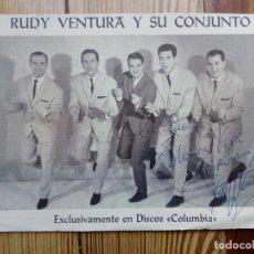 Autografi di Musica : RUDY VENTURA Y CONJUNTO MUSICA JAUME VENTURA SERRA VOCALISTA TROMPETISTA BARCELONA FIRMA AUTOGRAFO. Lote 165854934