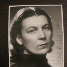 Autógrafos de Música : ELENA NICOLAI-AUTOGRAFO-FOTOGRAFIA FIRMADA-VER FOTOS-(V-17.257). Lote 166049746