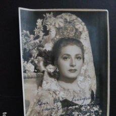 Autógrafos de Música : JUANITA REINA FOTOGRAFIA CON DEDICATORIA AUTOGRAFO 11 X 17 CMTS. Lote 166115170