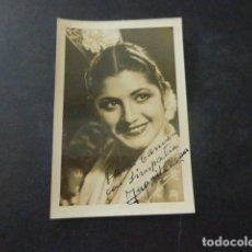 Autógrafos de Música : JUANITA REINA FOTOGRAFIA CON DEDICATORIA AUTOGRAFO 6 X 9 CMTS. Lote 166115458