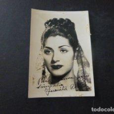 Autógrafos de Música : JUANITA REINA FOTOGRAFIA CON DEDICATORIA AUTOGRAFO 6 X 9 CMTS. Lote 166115686