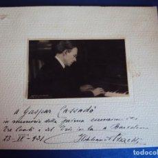 Autógrafos de Música : (FOT-190604)FOTOGRAFIA DEDICADA DEL PIANISTA ??? AL VIOLONCHELISTA GASPAR CASSADÓ I MOREU 23-4-1931. Lote 168934912