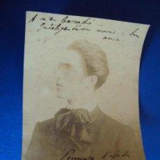 Autógrafos de Música : (FOT-190607)FOTOGRAFIA DEDICADA DEL VIOLINISTA TIN AL VIOLONCHELISTA GASPAR CASSADÓ I MOREU. Lote 168938420
