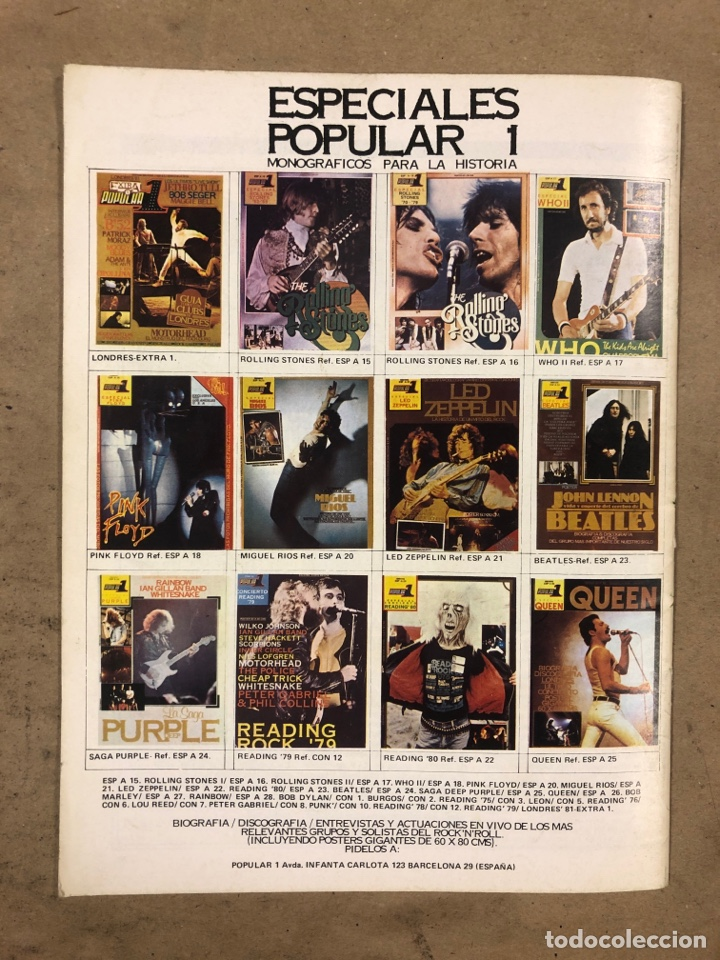 Autógrafos de Música : POPULAR 1 ESPECIAL READING ROCK '81. CON AUTÓGRAFOS ORIGINALES DE GIRLSCHOOL, THE KINKS - Foto 5 - 175143710
