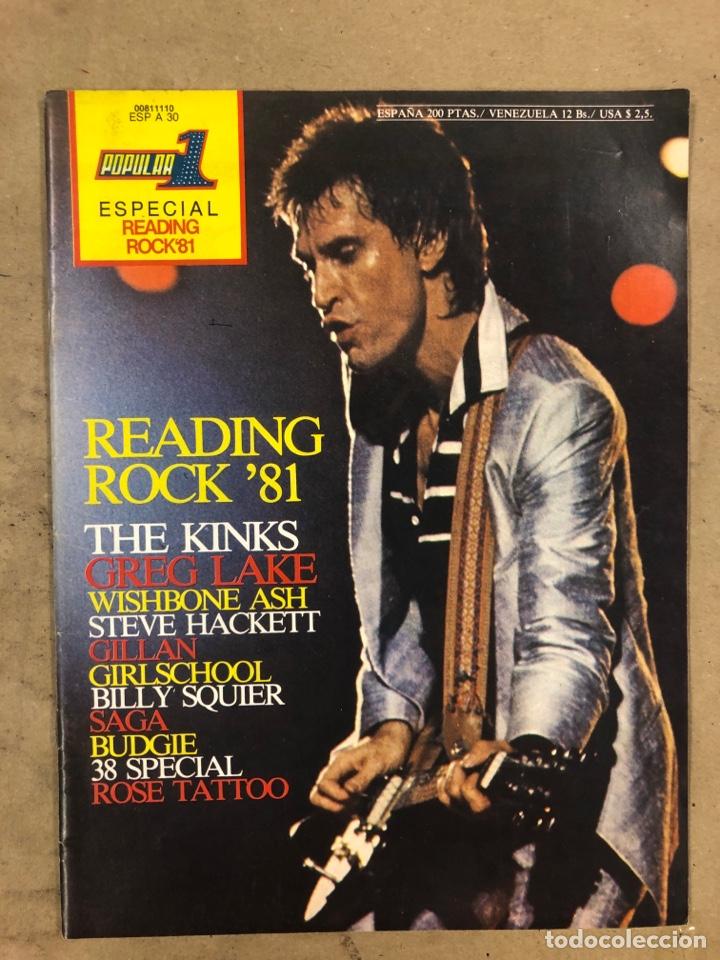 POPULAR 1 ESPECIAL READING ROCK '81. CON AUTÓGRAFOS ORIGINALES DE GIRLSCHOOL, THE KINKS (Música - Autógrafos de Cantantes )