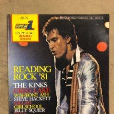 Autógrafos de Música : POPULAR 1 ESPECIAL READING ROCK '81. CON AUTÓGRAFOS ORIGINALES DE GIRLSCHOOL, THE KINKS. Lote 175143710