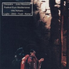 Autógrafos de Música : MONTSERRAT CABALLÉ. FOTOGRAFÍA CON AUTÓGRAFO, FIRMA ORIGINAL. 2002. CLEOPATRA. TIVOLI. ROMA.. Lote 175196663
