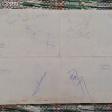 Autógrafos de Música : AUTÓGRAFOS HÉROES DEL SILENCIO + ALAN BOGUSLASVSKY EN TARJETAS PROMOCIONALES + 1 SIN FIRMAR. Lote 175265913