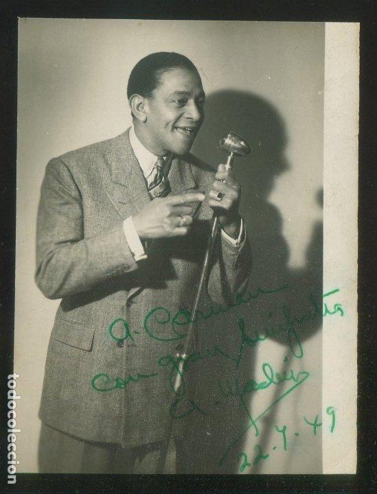 AUTÓGRAFO *ANTONIO MACHÍN* FOTO *FOTO-GRACIA, ZARAGOZA* MEDS: 83X108 MMS. AÑO 1949. (Música - Autógrafos de Cantantes )