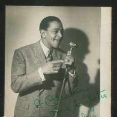 Autógrafos de Música : AUTÓGRAFO *ANTONIO MACHÍN* FOTO *FOTO-GRACIA, ZARAGOZA* MEDS: 83X108 MMS. AÑO 1949.. Lote 175545245