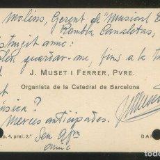 Autógrafos de Música : AUTÓGRAFO *J. MUSET I FERRER, PVRE.* ORGANISTA CATEDRAL BARCELONA. MEDS: 73X120 MMS. SIN FECHA.. Lote 175588749