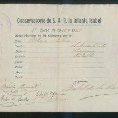 Autógrafos de Música : AUTÓGRAFOS VARIOS *CONSERVATORIO DE S.A.R. LA INFANTA ISABEL. CURSO 1919 A 1920* MEDS: 157X219 MMS.. Lote 175591769