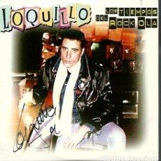 Autógrafos de Música : LOS TIEMPOS DEL ROCK OLA - SINGLE CD PROMOCIONAL FIRMADO POR LOQUILLO - EMI ODEON 1999 - UNICO EN TC. Lote 176049878