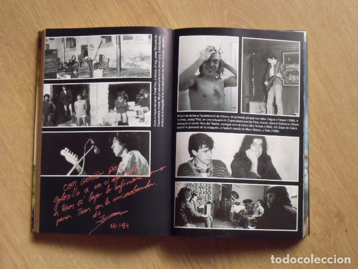 Autógrafos de Música : Autógrafos Gerard Quintana, Sopa de Cabra y autor del libro Pep Blay. Rosa dels Vents. 2002. - Foto 3 - 177113774