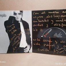 Autógrafos de Música : NACHO CAMPILLO ( TAN TAN GO) TRÍPTICO GRAN DEDICATORIA CD. Lote 177328855