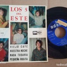 Autógrafos de Música : LOS 5 DEL ESTE /VIEJO CAFÉ /PROMOCIONAL/ FIRMADO Y DEDICADO. Lote 177375778