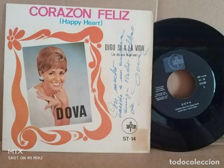 DOVA/CORAZÓN FELIZ /FIRMADO Y DEDICADO (Música - Autógrafos de Cantantes )