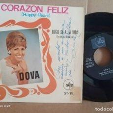 Autógrafos de Música : DOVA/CORAZÓN FELIZ /FIRMADO Y DEDICADO. Lote 177380387