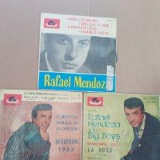 Autógrafos de Música : RAFAEL MENDOZA Y LOS BIG BOYS 3 EPS Y FIRMADOS Y DE5DICADOS. Lote 177383915