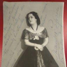 Autógrafos de Música : FOTOGRAFÍA CON AUTÓGRAFO ORIGINAL DE MERCEDES CAPSIR Y VIDAL SOPRANO ESPAÑOLA. Lote 177590408