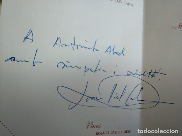 Autógrafos de Música : RARO: AUTÓGRAFO DE JOAN PICH I SANTASUSANA EN LA COMIDA HOMENAJE A ÉL MISMO (BARCELONA, 1968) - Foto 2 - 177826145