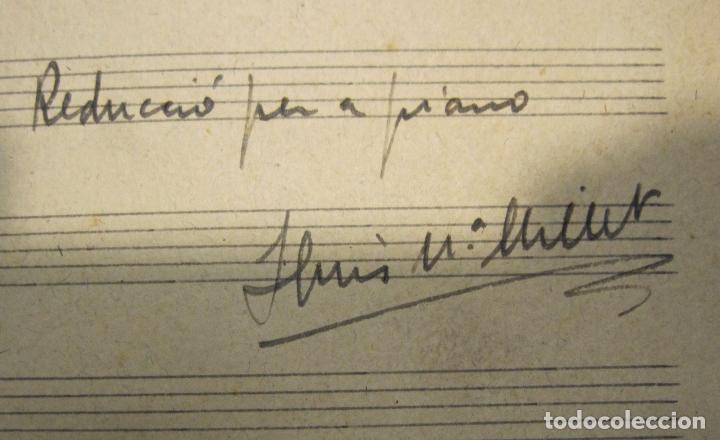 Autógrafos de Música : LLUIS MILLET. IN PARADISUM. MOTET A QUATRE VEUS MIXTES, MANUSCRITO. A LA SANTA MEMORIA DEL MEU PARE - Foto 2 - 179085926