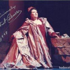 Autógrafos de Música : MONTSERRAT CABALLÉ. FOTOGRAFÍA CON AUTÓGRAFO, FIRMA ORIGINAL. 15X20 CM. 1998.. Lote 180079813