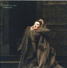 Autógrafos de Música : MONTSERRAT CABALLÉ. FOTOGRAFÍA CON AUTÓGRAFO, FIRMA ORIGINAL. 1989. SEMIRAMIDE. TEATRO DI SAN CARLO.. Lote 180080317
