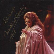 Autógrafos de Música : MONTSERRAT CABALLÉ. FOTOGRAFÍA CON AUTÓGRAFO, FIRMA ORIGINAL. 17X12 CM. BUEN ESTADO. 1998.. Lote 180081402