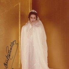 Autógrafos de Música : MONTSERRAT CABALLÉ. FOTOGRAFÍA CON AUTÓGRAFO, FIRMA ORIGINAL. BUEN ESTADO. 17,5X12,5 CM. 1993.. Lote 180925493