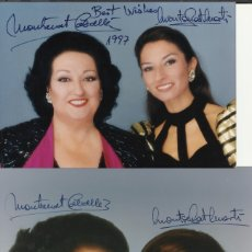 Autógrafos de Música : MONTSERRAT CABALLÉ Y MONTSERRAT MARTÍ. LOTE 2 FOTOGRAFÍAS CON AUTÓGRAFO, FIRMA ORIGINAL. 1997.. Lote 180943876