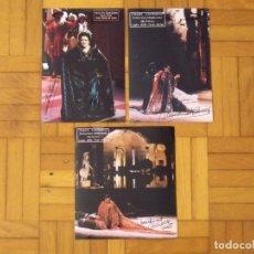 Autógrafos de Música : MONTSERRAT CABALLÉ. LOTE 3 AUTÓGRAFOS, FIRMAS ORIGINALES. ENRIQUE VIII Y CLEOPATRA. 2002. ROMA.. Lote 181185920