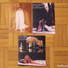Autógrafos de Música : MONTSERRAT CABALLÉ. LOTE 3 AUTÓGRAFOS, FIRMAS ORIGINALES. 1993 Y CLEOPATRA. 2002. ROMA. TIVOLI. Lote 181186195