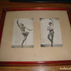 Autographes de Musique : FOTOS ENMARCADAS DE BAILARIN AÑOS 40 DESCONOCEMOS AUTOGRAFO AGRADECEREMOS INFORMACION. Lote 181316061