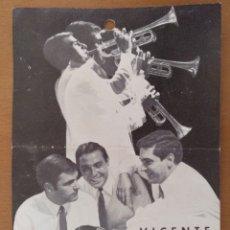 Autógrafos de Música : TARJET VICENTE SERRANO Y SU CONJUNTO BARCELONA 1969 11 X 15 CM (APROX). Lote 181726040