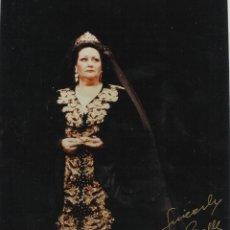 Autógrafos de Música : MONTSERRAT CABALLÉ. FOTOGRAFÍA CON AUTÓGRAFO, FIRMA ORIGINAL. 1998. TOSCA. 20X15 CM.. Lote 181744760