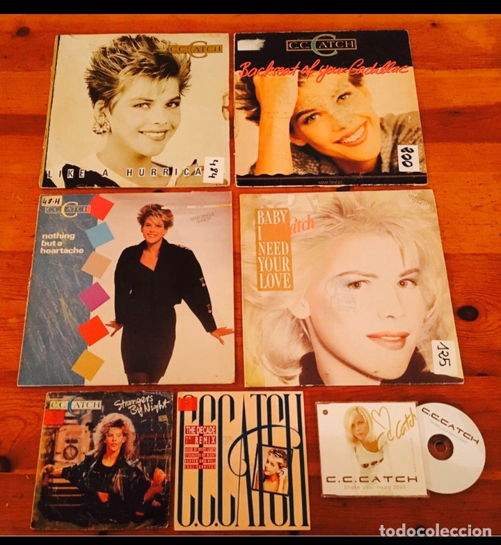 Autógrafos de Música : C.C.CATCH / LOTE CD FIRMADO Y VINILOS AUTOGRAFO C C CATCH / CC CATCH / AUTENTICO - Foto 3 - 182695516