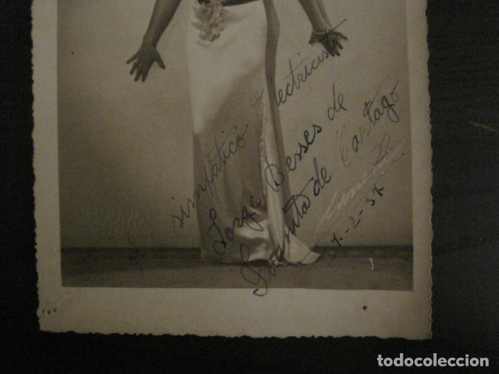 Autógrafos de Música : JUANITA DE CARTAGO-AUTOGRAFO-FOTOGRAFIA ANTIGUA FIRMADA-CARRERA FOT-VER FOTOS-(V-18.330) - Foto 3 - 184553358