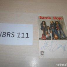 Autógrafos de Música : CD - AUTOGRAFO ORIGINAL DE LOS AÑOS 90 DE BARON ROJO. Lote 187512507