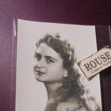 Autographes de Musique : ANTIGUA FOTOGRAFIA ARTISTA CARMINA GUMBAU , CON DEDICATORIA ORIGINAL A TINTA . Lote 188470427