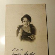 Autografi di Musica : FOTOGRAFIA DEDICADA Y FIRMADA POR LA GRAN SOPRANO TOTI DAL MONTE. BARCELONA 1931. 24X15 CM. Lote 188700632