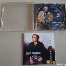 Autógrafos de Música : DAVID CARRADINE CD AUTOGRAFO EN LA PORTADA. Lote 190210386