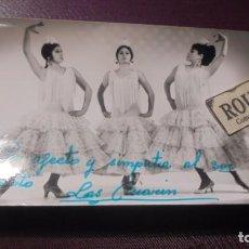 Autographes de Musique : ANTIGUA FOTOGRAFIA DE LA CANTANTE LAS ANARIN .CON DEDICATORIA AUTOGRAFA ORIGINAL A TINTA. Lote 192443818