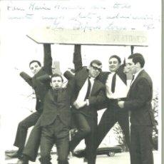 Autógrafos de Música : 2043.- LOS PAJAROS LOCOS - GRUPO DE MUSICA -FOTOGRAFIA DEDICADA. Lote 194278758
