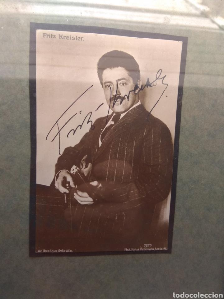 Autógrafos de Música : Foto Postal Firmada por el Violinista Fritz Kreisler - Violín - - Foto 2 - 57876705