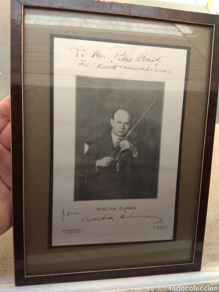 Autógrafos de Música : Foto Postal Firmada y Dedicada por el Violinista Mischa Elman 1928 - Violín - - Foto 2 - 57876719