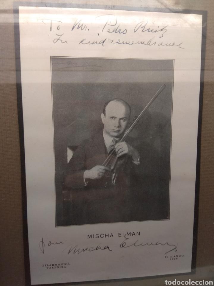 Autógrafos de Música : Foto Postal Firmada y Dedicada por el Violinista Mischa Elman 1928 - Violín - - Foto 3 - 57876719