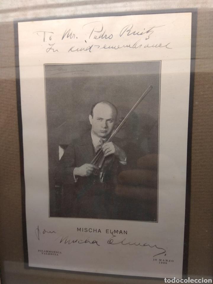 Autógrafos de Música : Foto Postal Firmada y Dedicada por el Violinista Mischa Elman 1928 - Violín - - Foto 4 - 57876719